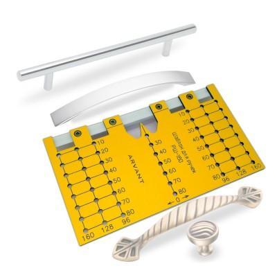 Купить Мебельный шаблон ARVANT РШ-160 короткий для разметки ручек за 770.00 р. в интернет-магазине МФ-СНАБ