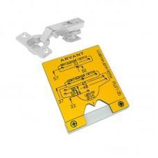 Мебельный шаблон ARVANT РШП-35 для разметки фасадных петель