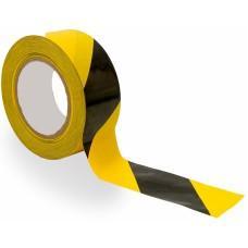 Скотч (клейкая лента) разметочный 50х50 м. (Желто-Черный)