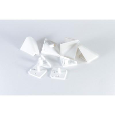 Купить Комплект углов и заглушек для плинтуса (Белый) за 19.00 р. в интернет-магазине МФ-СНАБ