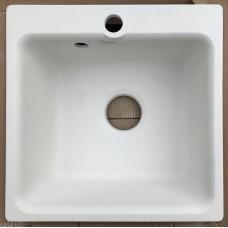 Каменная мойка Granfest Smart SM430//H18 43х43 Квадратная (Белая)