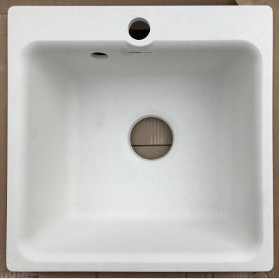 Купить Каменная мойка Granfest Smart SM430//H18 43х43 Квадратная (Белая) за 1 600.00 р. в интернет-магазине МФ-СНАБ