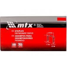 Скобы MTX для пневматического степлера 16 мм., 1.2х0.6х11.2 мм.