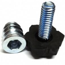 Подпятник регулируемый М6х24, с резьбой (Чёрный)