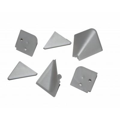 Купить Комплект углов и заглушек для плинтуса (Серый) за 28.00 р. в интернет-магазине МФ-СНАБ