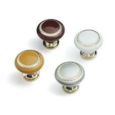 Ручка кнопка К4 (Дуб Венге+Хром)